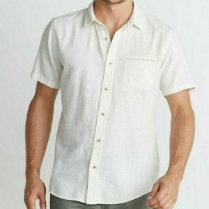 Marine Layer Lance Button Down in Natural